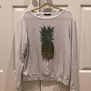 White wildfox sweatshirt